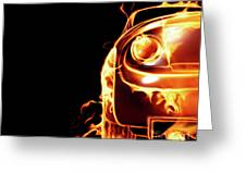 Sports Car In Flames Greeting Card by Oleksiy Maksymenko
