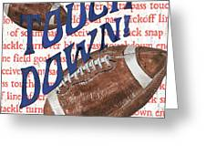 Sports Fan Football Greeting Card