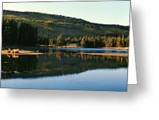 Sprague Lake At Dusk Rocky Mountain National Park Greeting Card