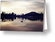 Sprague Lake At Sunset Greeting Card