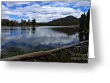 Sprague Lake Cloud Reflection Greeting Card