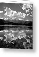 310204-bw-sprague Lake Reflect Bw  Greeting Card