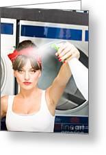 Spray Bottle Cleaner Greeting Card