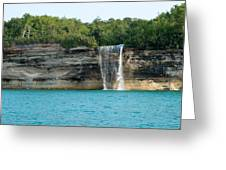 Spray Falls On The Water Greeting Card