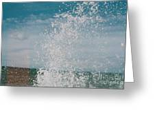 Spray In The Bay Greeting Card