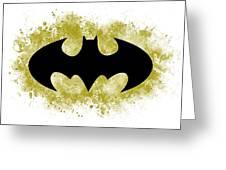 Spray Paint Batman Logo Greeting Card