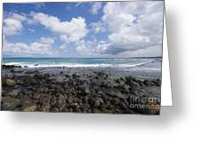 Spreckelsville, Rocky Shoreline Greeting Card