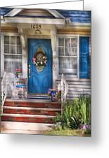Spring - Door -  A Bit Of Blue  Greeting Card