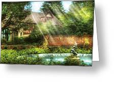Spring - Garden - The Pool Of Hopes Greeting Card