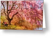 Spring - Sakura - A Beautiful Spring Day  Greeting Card