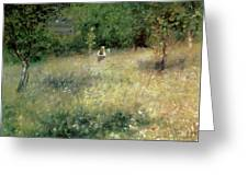 Spring At Chatou Greeting Card by Pierre Auguste Renoir