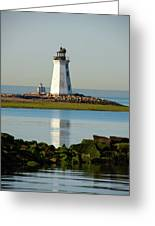 Spring At The Lighthouse Greeting Card