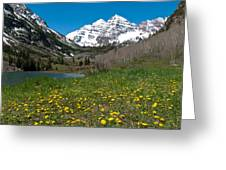 Spring At The Maroon Bells Greeting Card by Cascade Colors