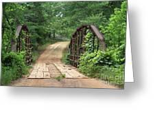 Spring At The Old Bridge Greeting Card