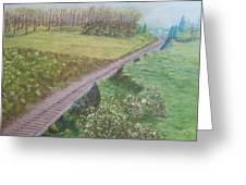 Spring At The Railroad Cut Gettysburg Greeting Card