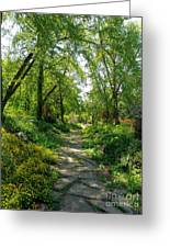 Spring At The Urban Oasis Portrait Greeting Card