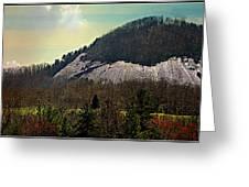 Spring Begins At Glassy Mountain Greeting Card