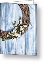 Spring Blossom Wreath Greeting Card
