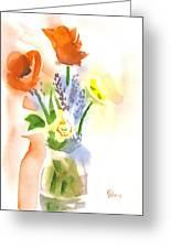 Spring Bouquet II Greeting Card by Kip DeVore