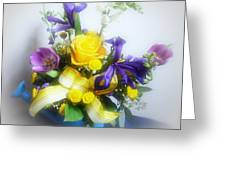 Spring Bouquet Greeting Card by Sandy Keeton