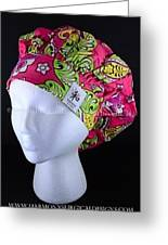 Spring Butterfly Classic Bouffant Scrub Hat Greeting Card