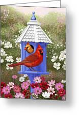 Spring Cardinals Greeting Card