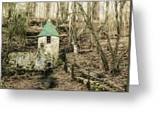 Spring Castle - Rock Island Park Tn Art 585 Greeting Card