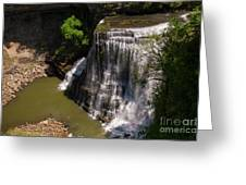 Spring Color At Burgess Lower Falls Greeting Card