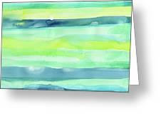Spring Colors Pattern Horizontal Stripes Greeting Card