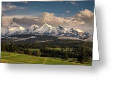 Spring Comes To The High Tatra Mountains In Poland Greeting Card