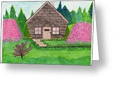 Spring Cottage Greeting Card