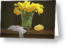 Spring Daffodil Flowers Greeting Card