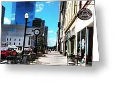 Spring Day In Downtown Lexington, Ky Greeting Card by Rachel Maynard
