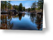 Spring Day On The River Greeting Card