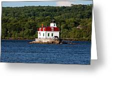 Spring Evening At Esopus Lighthouse Greeting Card