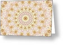 Spring Fantasy Floral Mandala Greeting Card