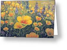 Spring Field Of Flowers Greeting Card