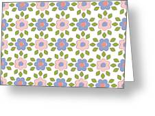 Spring Floral Pattern Textiles Greeting Card