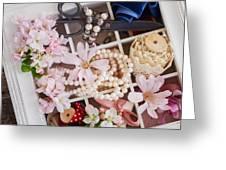 Spring Flowers Box Greeting Card