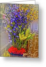Spring Flowers For Sale Greeting Card