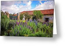 Spring Flowers In The Carmel Mission Garden Greeting Card