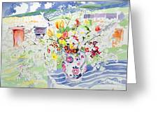 Spring Flowers On The Island Greeting Card