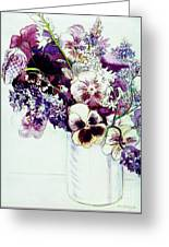 Spring Flowers With Fritillaria  Greeting Card