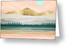 Spring Forest Lake Greeting Card
