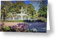 Spring Fountain Greeting Card