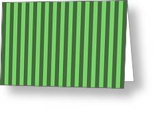 Spring Green Striped Pattern Design Greeting Card