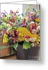 Spring In A Bucket Greeting Card