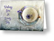 Spring In A Cup Greeting Card