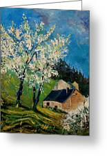 Spring In Hierges  Greeting Card