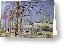 Spring In Hyde Park Greeting Card